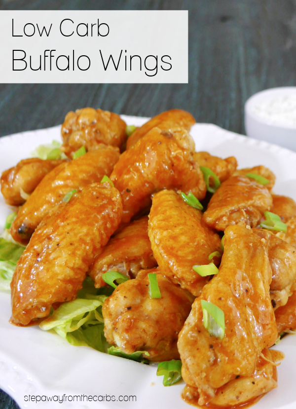 Low Carb Buffalo Wings - buttery and spicy chicken wings roasted to perfection!