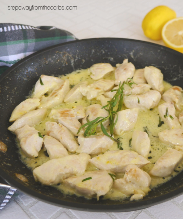 Lemon Tarragon Chicken - low carb, LCHF, keto, gluten free recipe