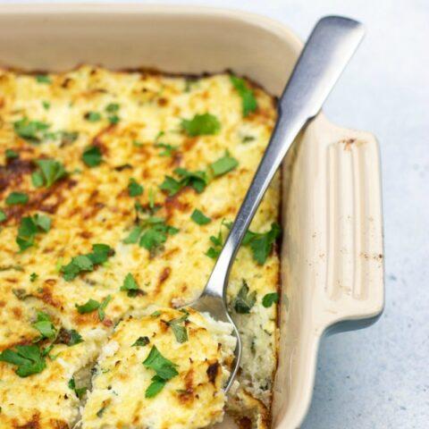 Easy Low Carb Cauliflower Soufflé