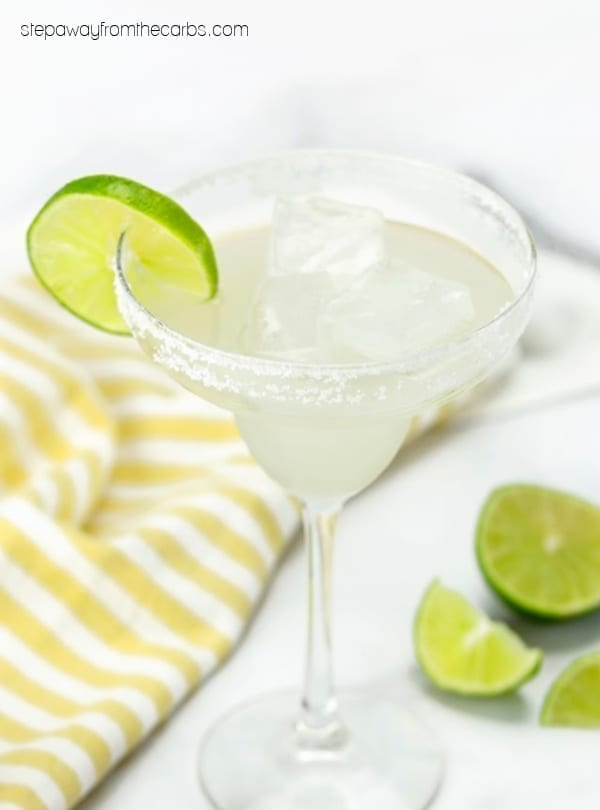 Low Carb Margarita - sugar free and almost zero carb recipe with video tutorial