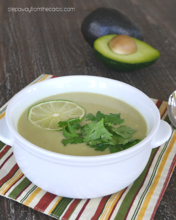 Low Carb Thai Avocado Soup - smooth, creamy, and packed full of flavor!