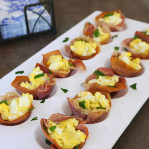 Prosciutto Cups with Egg and Parmesan