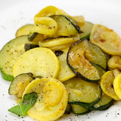 Sautéed Zucchini and Yellow Squash with Lemon and Basil