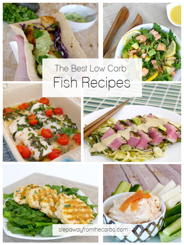 The Best Low Carb Fish Recipes - salmon, tuna, cod, and more!