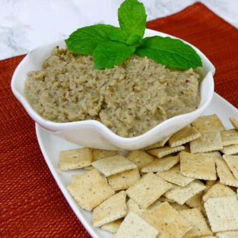 Low Carb Roasted Eggplant Dip