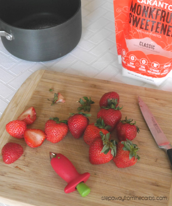 Low Carb Strawberry Sauce - a sugar free and keto recipe