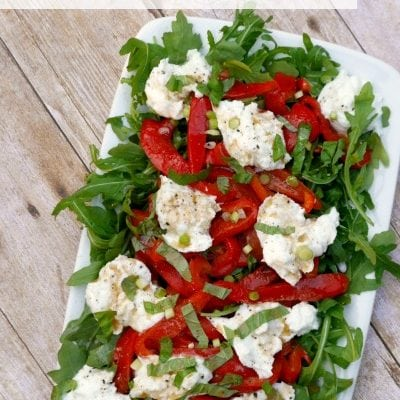 Roasted Red Pepper and Buffalo Mozzarella Salad