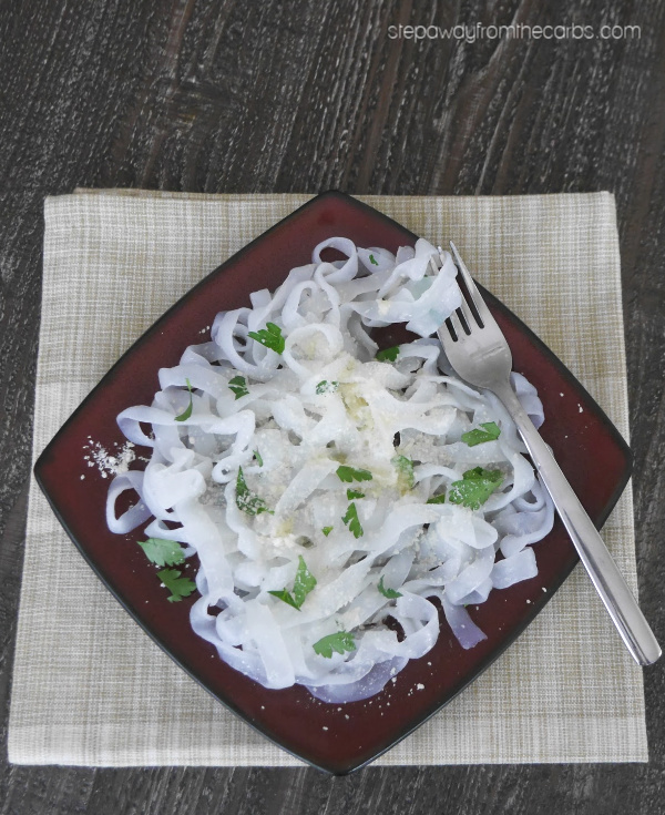 Buttery Zero Carb Noodles - a versatile side dish or light lunch for low carbers