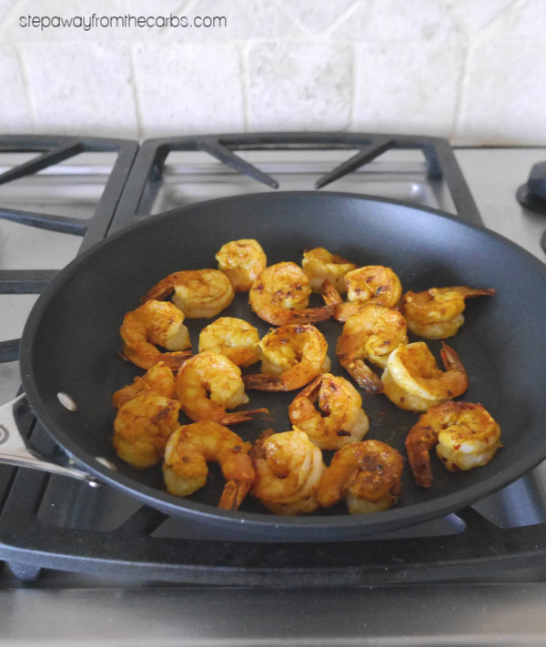 Indian Spicy Shrimp - a low carb and keto appetizer recipe