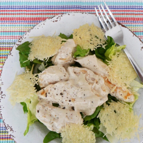 Low Carb Chicken Caesar Salad