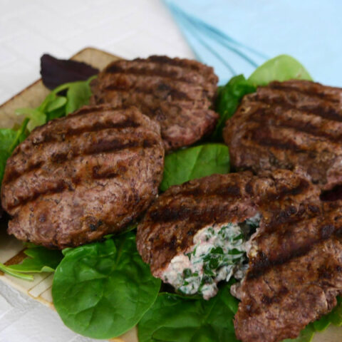 Herb Stuffed Burgers