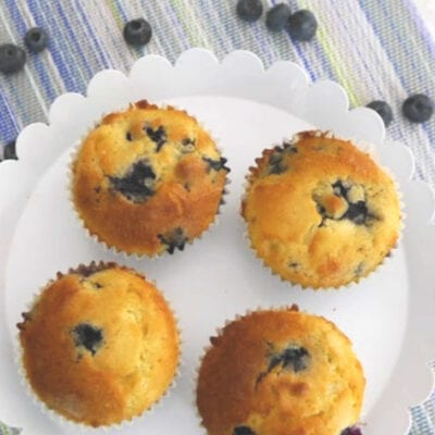 Keto and Low Carb Blueberry Muffins