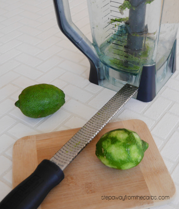 Low Carb Mint and Lime Pops - a super refreshing recipe treat that is keto-friendly and sugar free