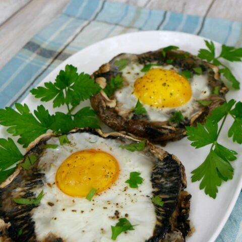 Baked Mushrooms with Eggs