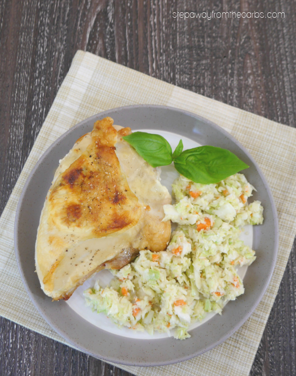 Basil Stuffed Chicken Breasts - low carb and keto recipe