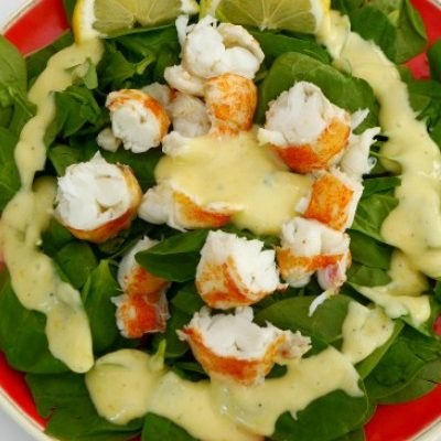 Lobster Tails with Homemade Lemon Mayo