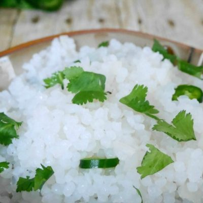 Low Carb Rice with Cilantro and Lime