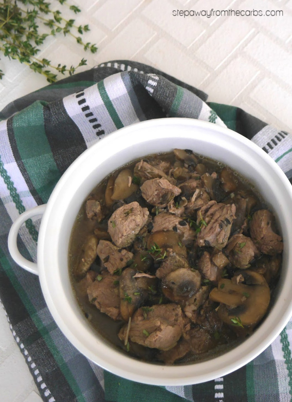 Slow Cooker Lamb with Thyme - a low carb and keto recipe for a cold day!