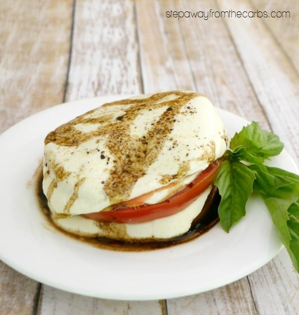 Warm Caprese Stack - low carb Italian appetizer recipe