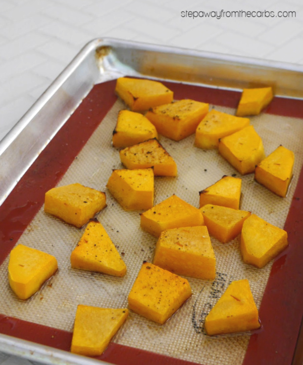 Roasted Butternut Squash and Parmesan Dip - a low carb recipe to serve as an appetizer or snack!
