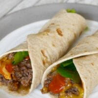 Low Carb Cheeseburger Wraps