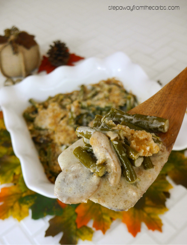 Low Carb Green Bean Casserole - a keto version of the classic Thanksgiving side dish recipe!