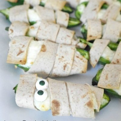 Low Carb Halloween Jalapeño Poppers