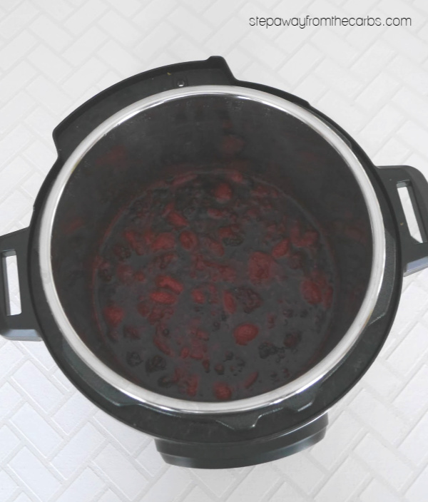 Low Carb Berry Sauce - a sugar free recipe that's made in the slow cooker or Instant Pot