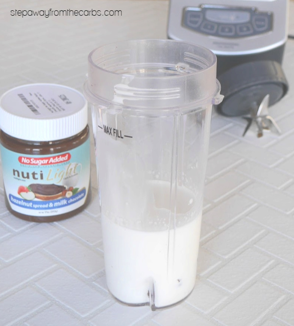 Sugar Free and Low Carb Chocolate Hazelnut Shake - super thick shake recipe!