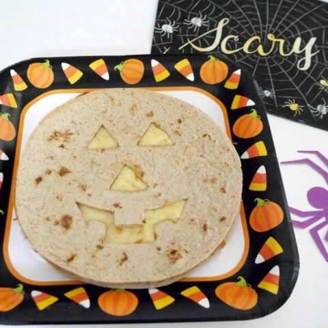 Low Carb Halloween Cheese Quesadillas