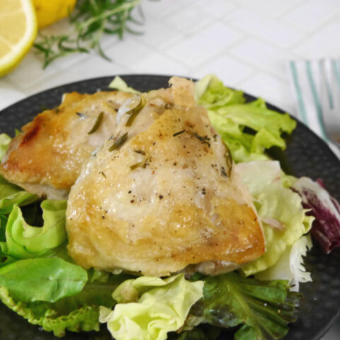 Slow Cooker Chicken Thighs with Rosemary and Lemon