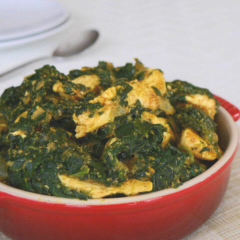 Low Carb Chicken Saag