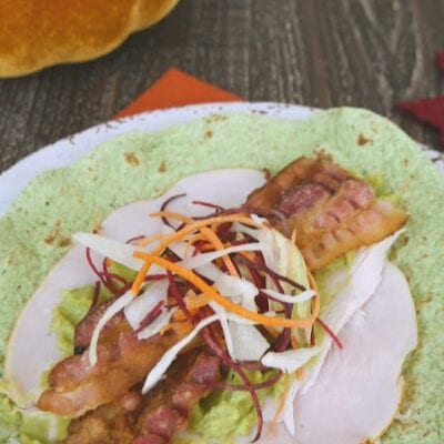 Low Carb Leftover Turkey Wrap