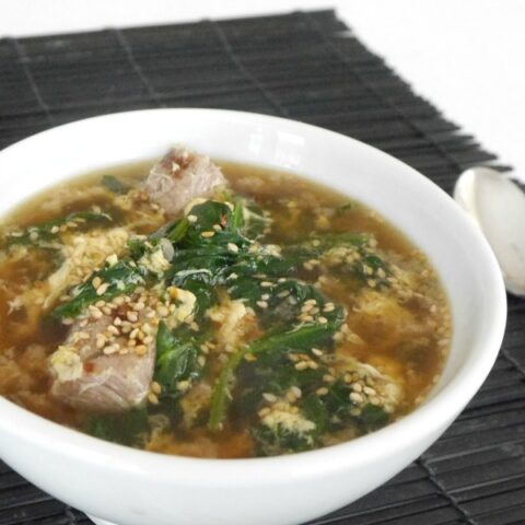 Low Carb Asian Beef and Spinach Soup