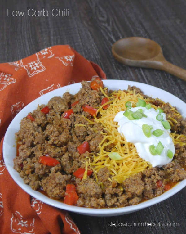 Low Carb Chili - a slow cooker or Instant Pot recipe that is full of flavor (and no beans!)