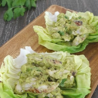 Chicken Guacamole Lettuce Wraps
