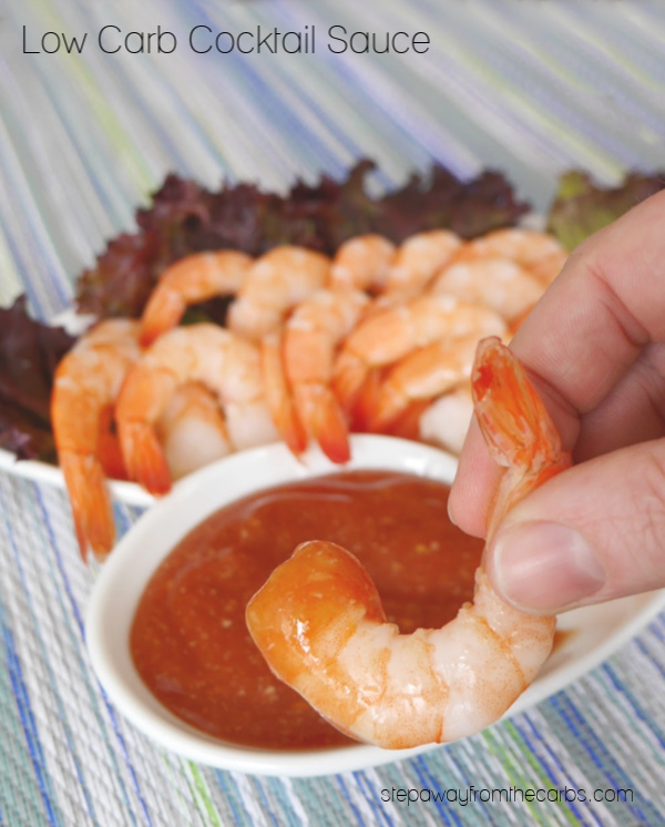 Low Carb Cocktail Sauce that's perfect for shrimp - and just two ingredients! Sugar free recipe.