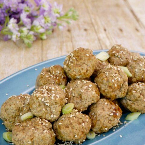 Low Carb Pork and Wild Mushroom Meatballs
