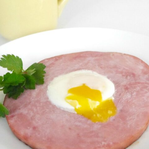 Ham Steak with Egg