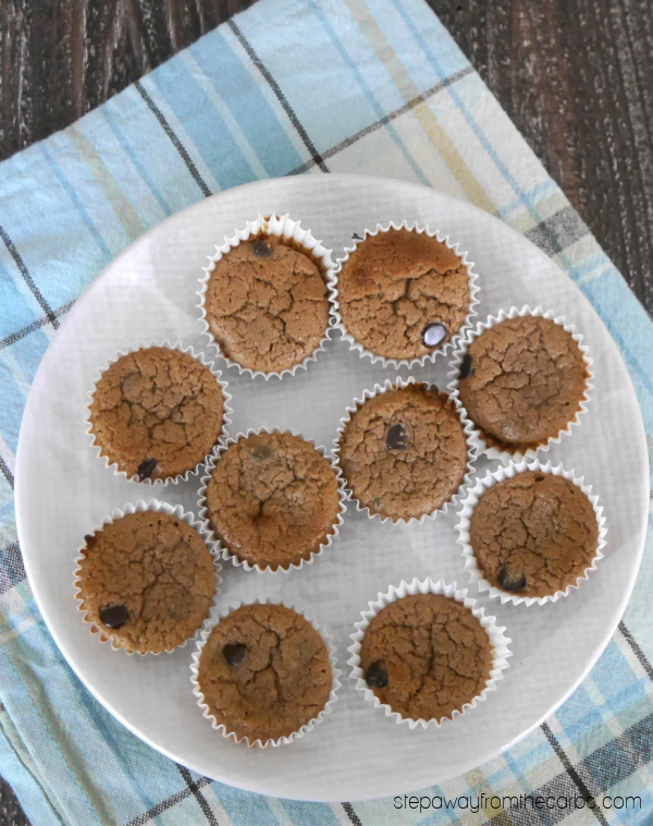 Low Carb Double Chocolate Mini Muffins - a sugar free, keto, and gluten free recipe!