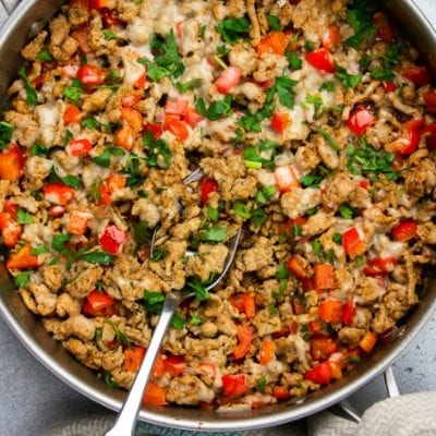 Low Carb Turkey Taco Skillet
