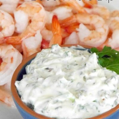 Shrimp with Bacon Herb Dip