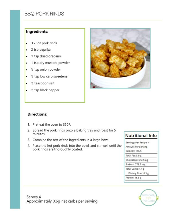 Meal Planner Sample Recipe Page