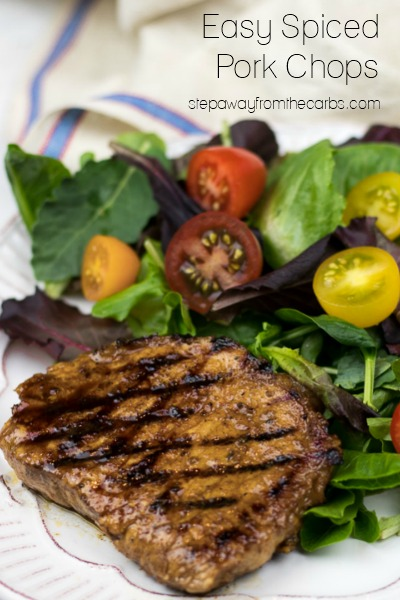 Easy Spiced Pork Chops - Step Away From The Carbs