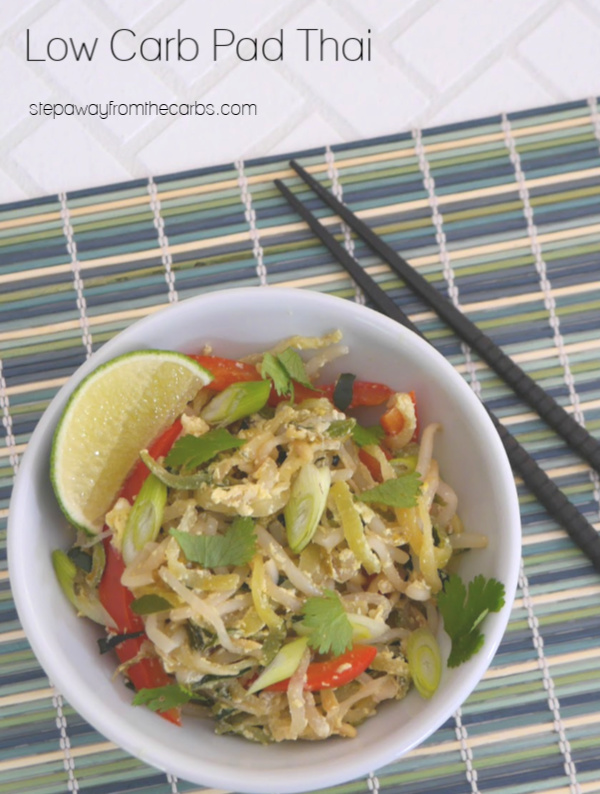 Low Carb Pad Thai - a vegetarian dish made with zucchini noodles