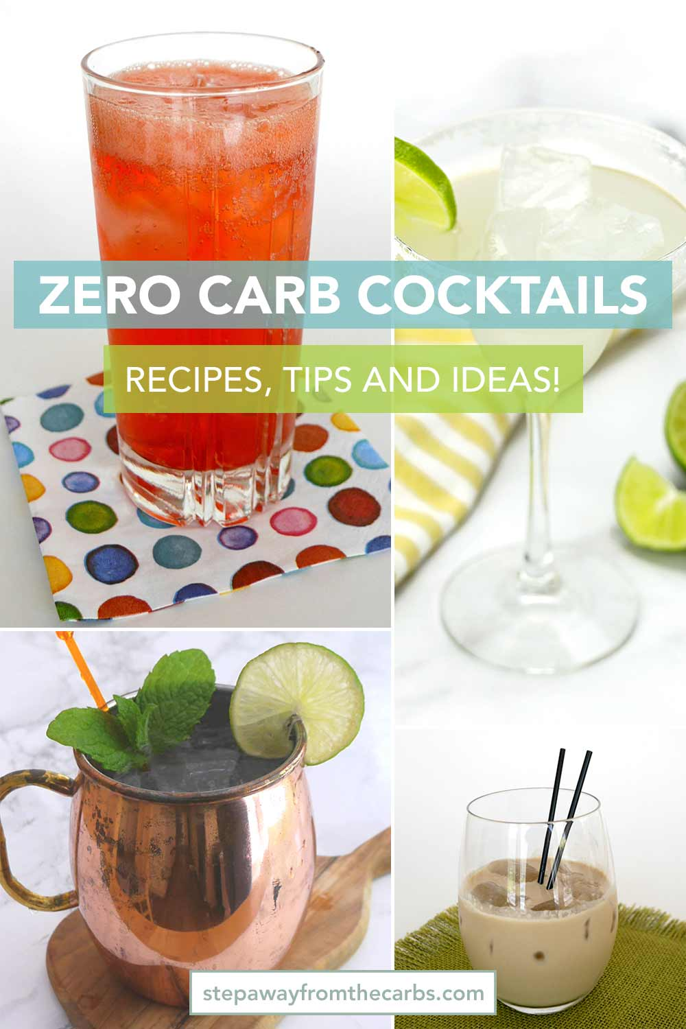 Zero Carb Cocktails - recipes, information, and top tips!
