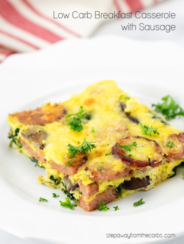 Low Carb Breakfast Casserole with Sausage - perfect for all the family!