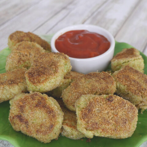 Low Carb Broccoli and Cauliflower Nuggets