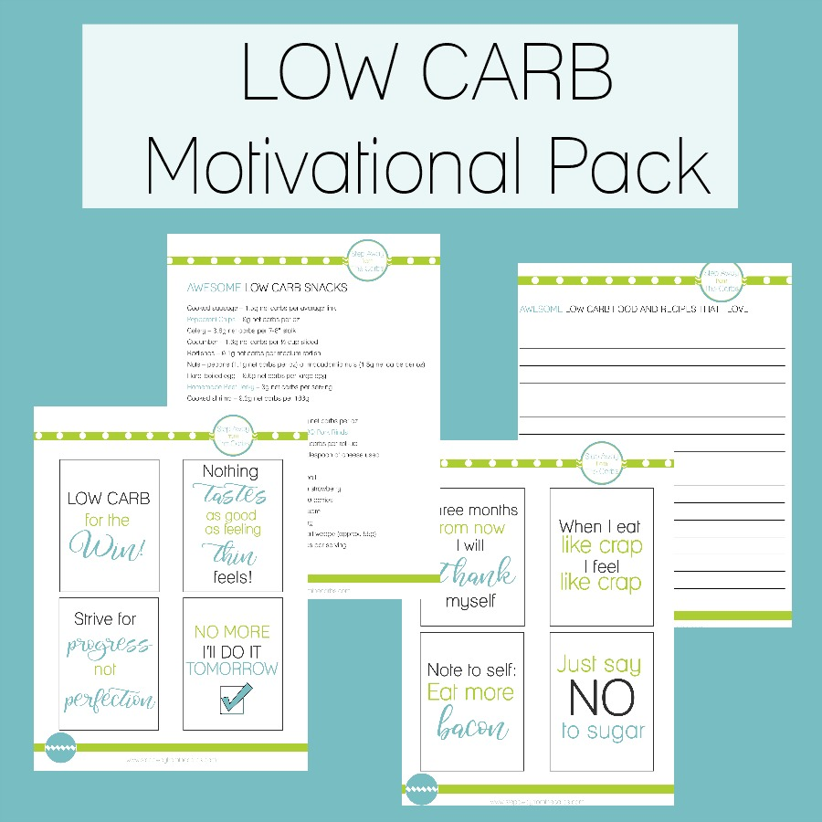 photograph regarding No Carb Food List Printable referred to as Small Carb Motivational Pack