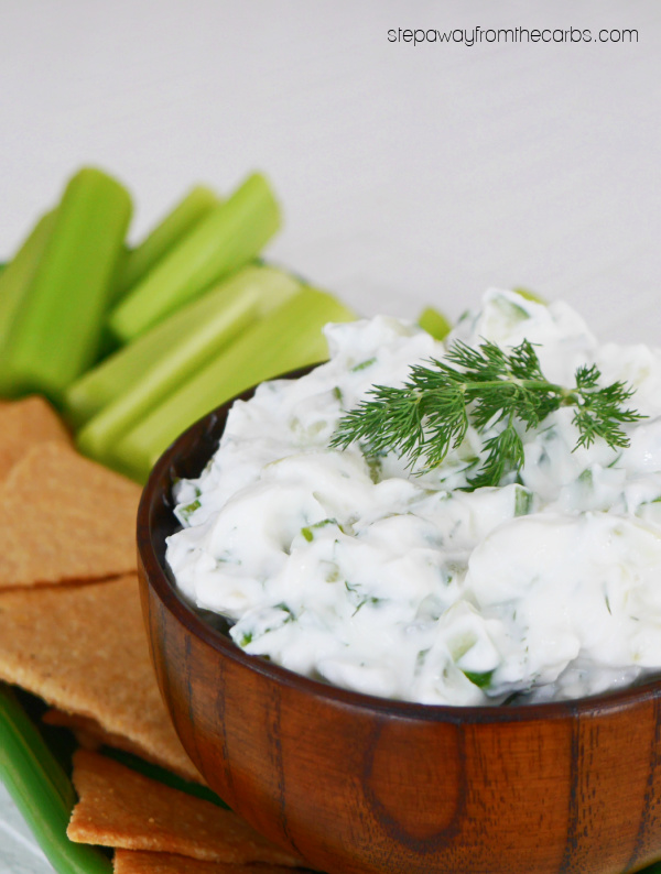 Low Carb Tzatziki - a traditional Greek dip made from yogurt, cucumber, and dill!